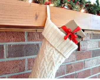 Knitting Pattern - Christmas Stocking Knitting Pattern - Third Annual Fiddlestyx Christmas Stocking -  the Glenys Stocking Pattern