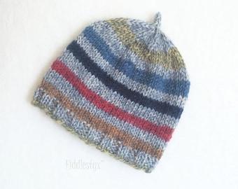 Preemie Hat Knitting Pattern - Rainbow Hat - Striped Hat - Newborn Knitting Pattern - the HARPER beanie (Preemie & Newborn sizes)