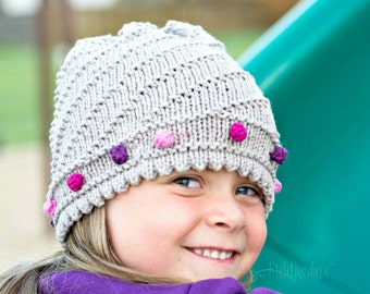 Hat Knitting Pattern - Slouchy Hat Pattern - the JO Hat (Newborn, Baby, Toddler, Child & Adult sizes incl'd)