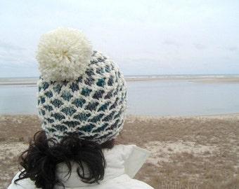 Knitting Pattern - Hat Knitting Pattern - Pom Pom Hat Pattern - the CHATHAM Hat (Toddler, Child & Adult sizes)