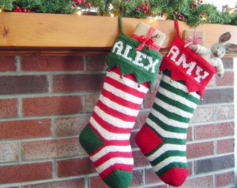 Knitting Pattern - Christmas Stocking Knitting Pattern - First Annual Fiddlestyx Christmas Stocking -  the HARVEY Xmas Stocking Pattern