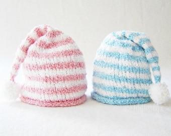 Knitting Pattern - Stocking Hat Pattern - the HANNAH-BENJAMIN Hat (Newborn, Baby, Toddler, Child & Adult sizes incl'd)