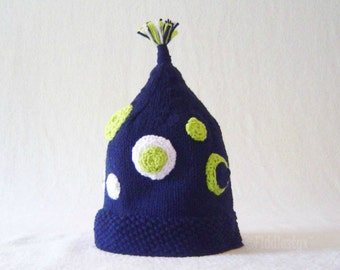 Knitting Pattern - Boys Hat Pattern - the VINCENT Hat (Newborn, Baby, Toddler, Child & Adult sizes incl'd)