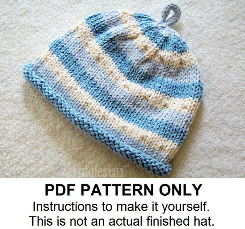 Baby Hat Knitting Pattern Baby Boys Hat Pattern The Ben Etsy
