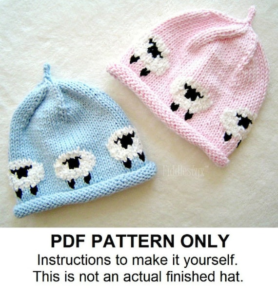 Hat Knitting Pattern Little Lamb Hat Woolly Sheep Hat Etsy