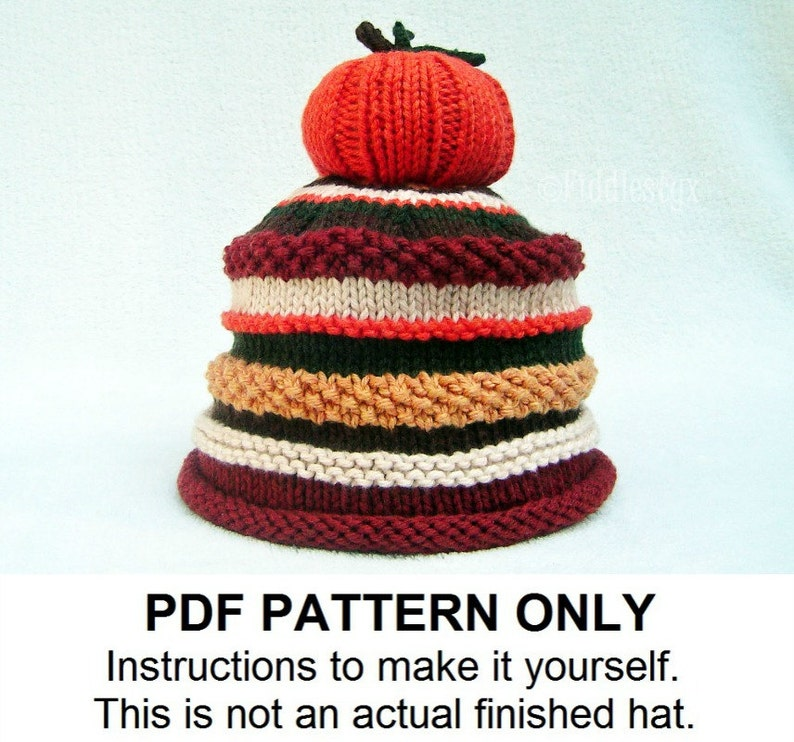 198b4ea109e Knitting Pattern Pumpkin Hat Pattern the JACK Hat