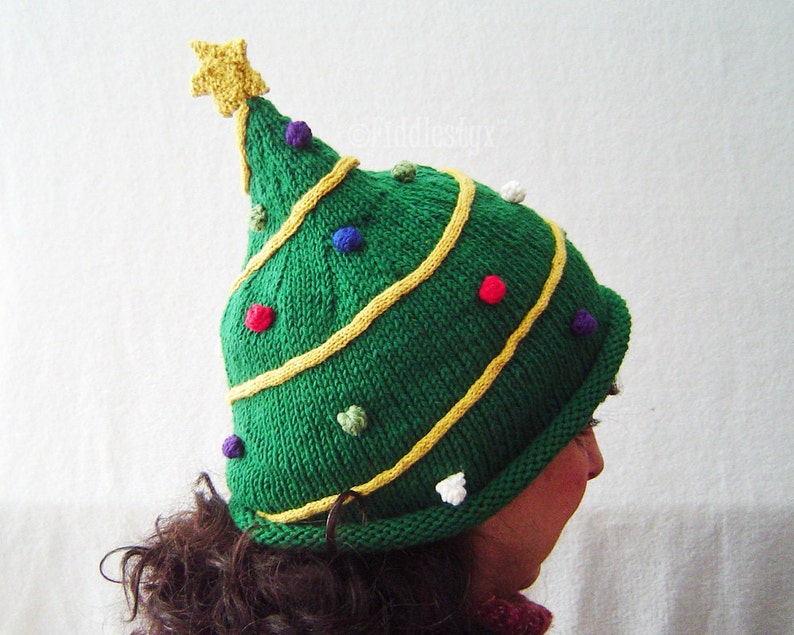 Knitting Pattern Christmas Tree Hat Pattern the NICK Hat ...