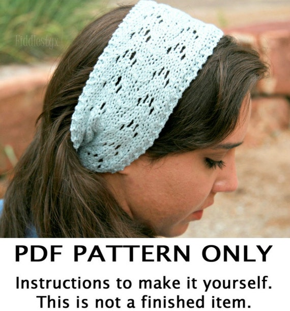 Knitting Pattern Lace Headband Pattern The Jayne Headband Etsy