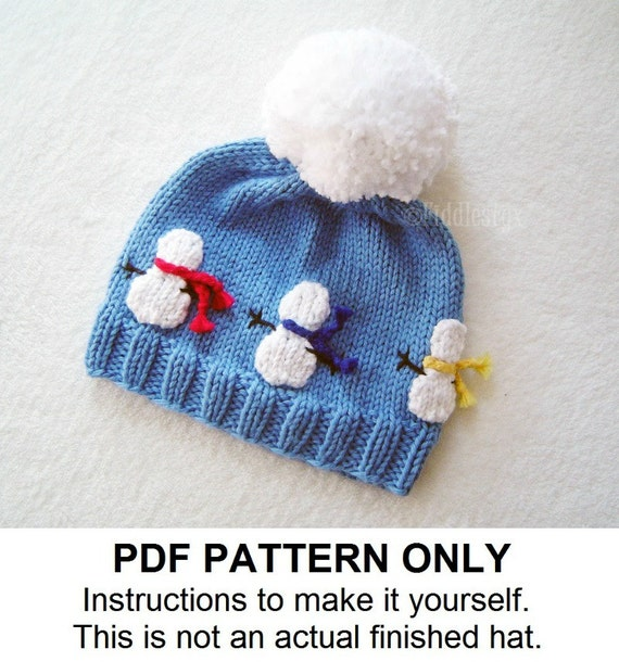 Hat Knitting Pattern Snowman Hat Pattern The Olaf Hat Etsy