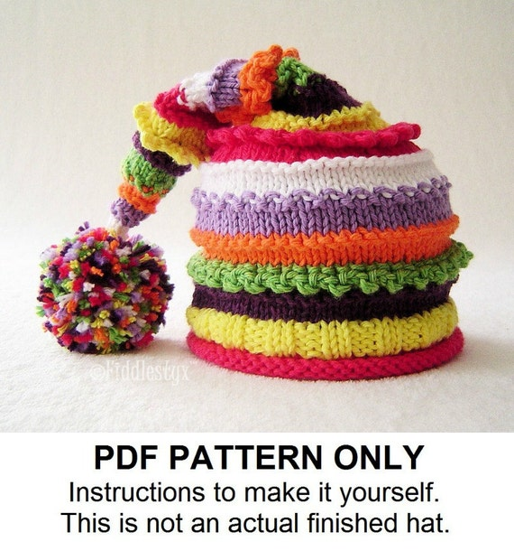 Knitting Pattern Stocking Hat Pattern The Lucy Hat