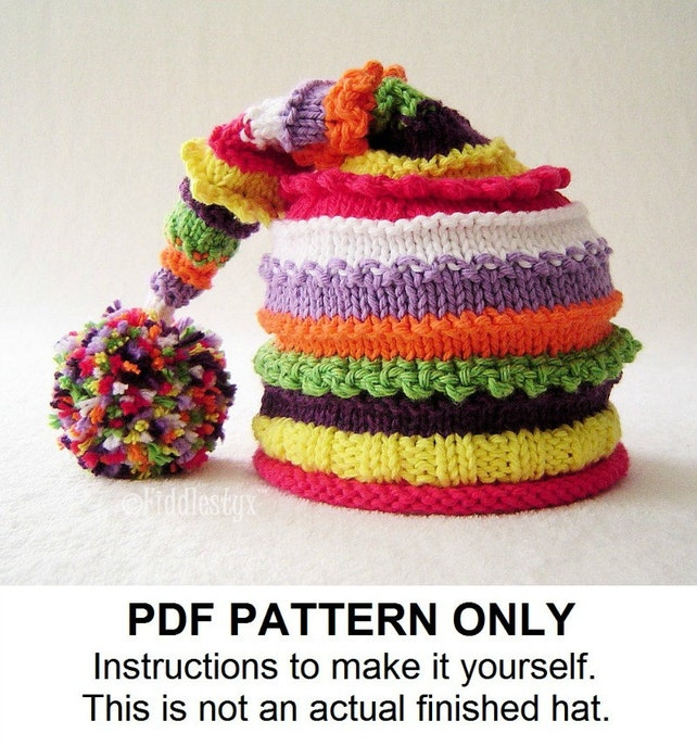 Knitting Pattern Stocking Hat Pattern The Lucy Hat Etsy