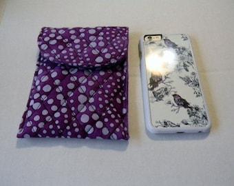Purple Polka Dot Batik Cell Phone Case/iPhone