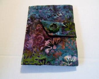 Tropical Flowers Batik Kindle Touch/ Kindle/ Nook Simple Touch/Paperwhite  Cover