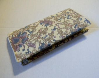Lavender Floral Checkbook Cover