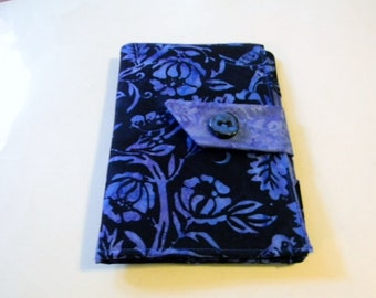 Finches on Branches Blue Batik Kindle Fire/Keyboard Cover