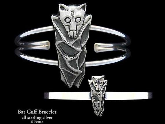 Bat Bracelet Silver Cuff