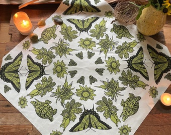 Nature botanical Butterfly Bandana, Reading Cloth