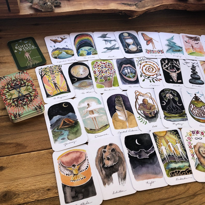 Roots & Wings Oracle Deck 63 cards by Kat Ryalls 2020 edition image 0