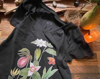 Wildflower Women's RECYCLED v-neck t-shirt