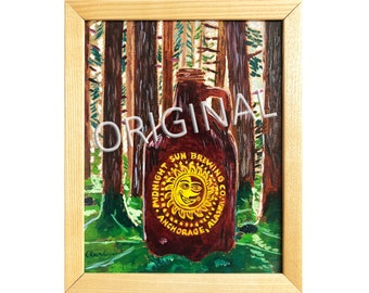 Colorfull Paintings Of Beer Alaska Scenery And By Realartisbetter