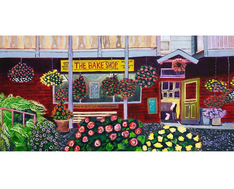 The Bake Shop in Girdwood Alaska Art Print Alaskan Artist image 0