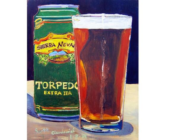 Sierra Nevada Bier Poster Torpedo Ipa Bier Verjaardag Cadeau Etsy