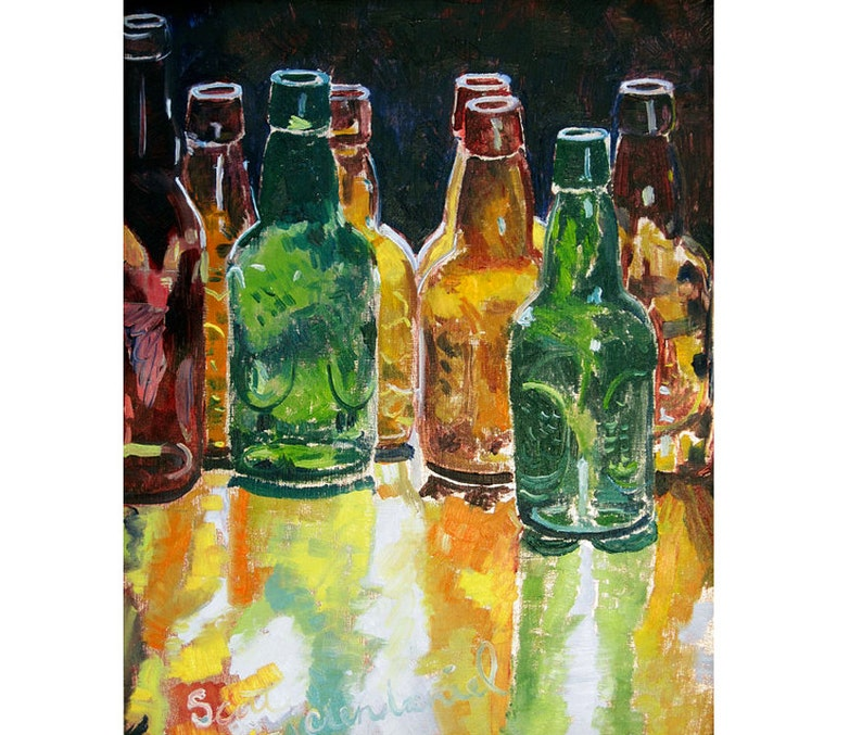 Beer Gift For Him Under 50 Art Men Kitchen Bottle