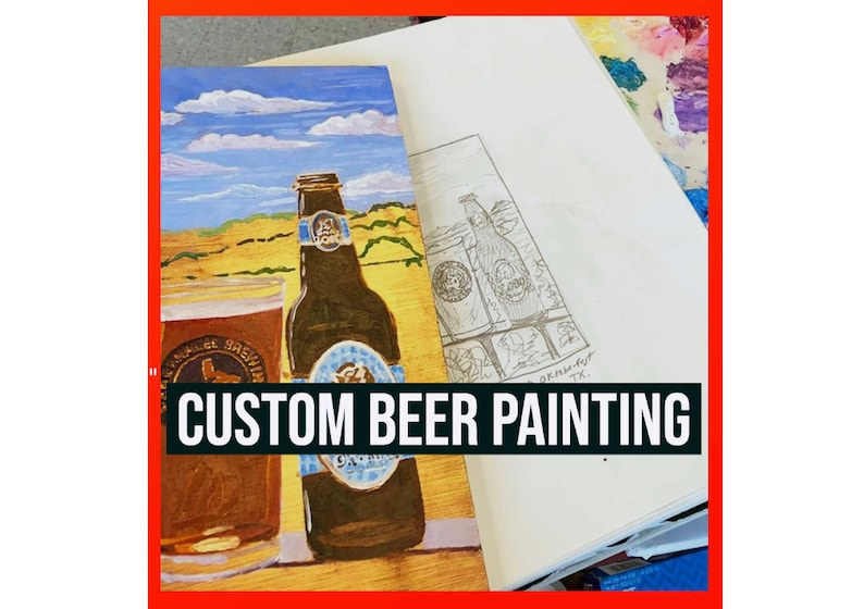 Custom Beer Painting Made to Order Personalized Beer Gift for image 0