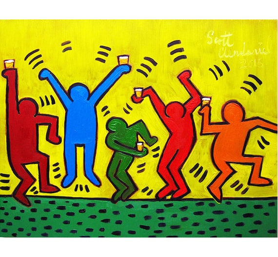 Keith Haring 21st Birthday Beer Gift Dorm Room Beer Poster