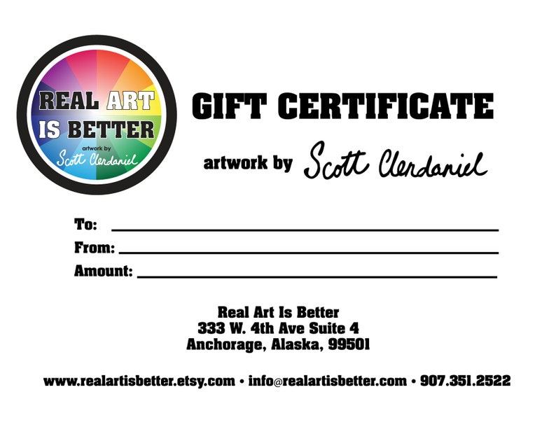 Gift Certificate for Custom Oil Painting Made to Order image 0
