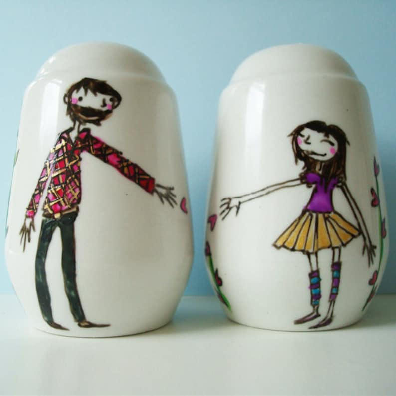 Personalized Salt & Pepper Shakers image 0