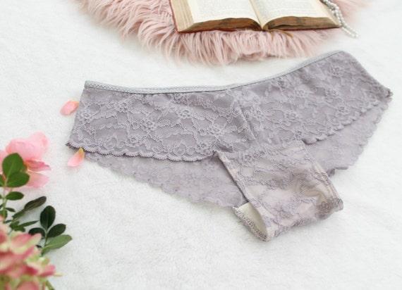 Dusty Purple Lace Panties  Smokey Amethyst  Grey  584544874