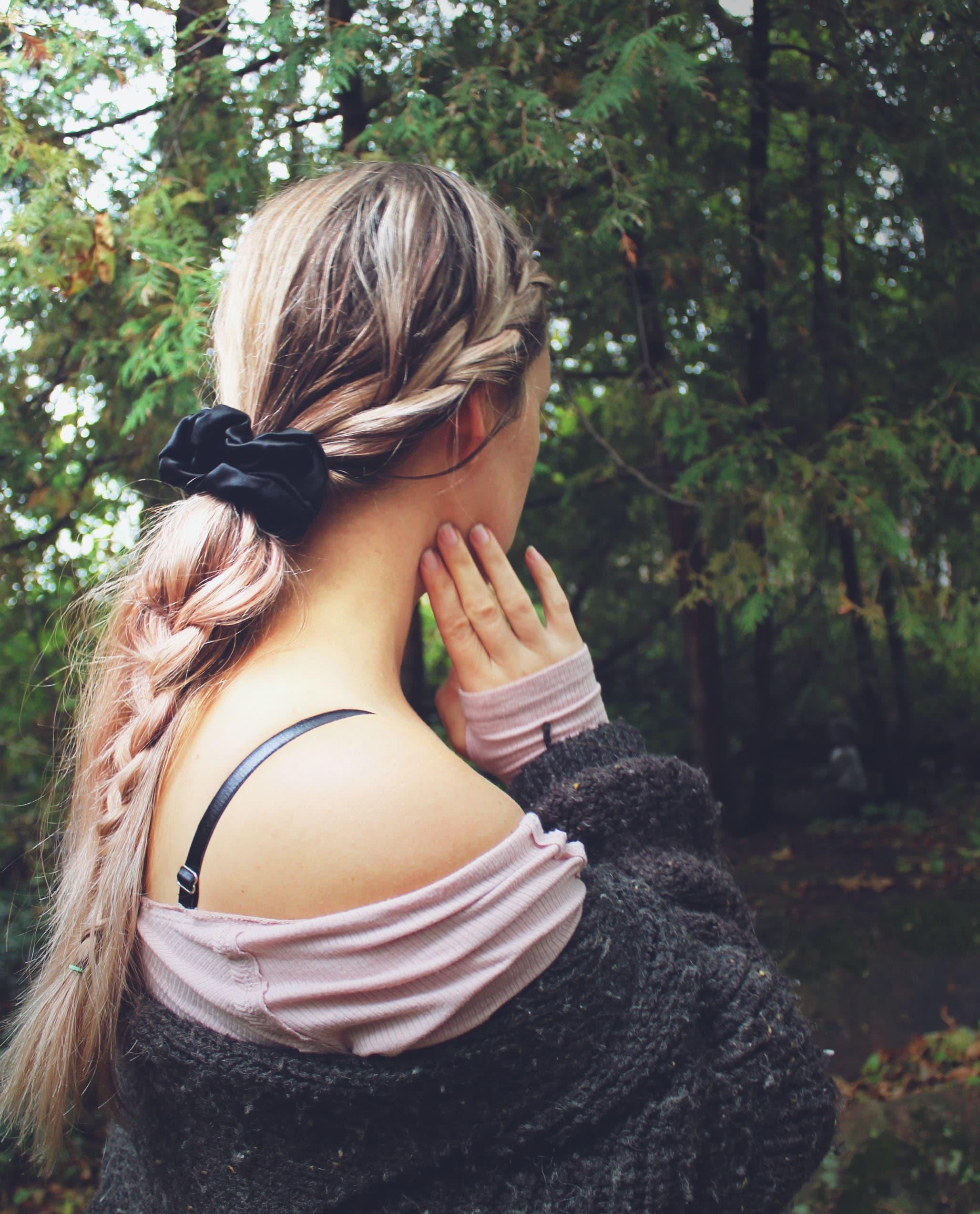Valentines Day Red 100/% Silk Scrunchie Hair Tie Handmade by Ohh Lulu