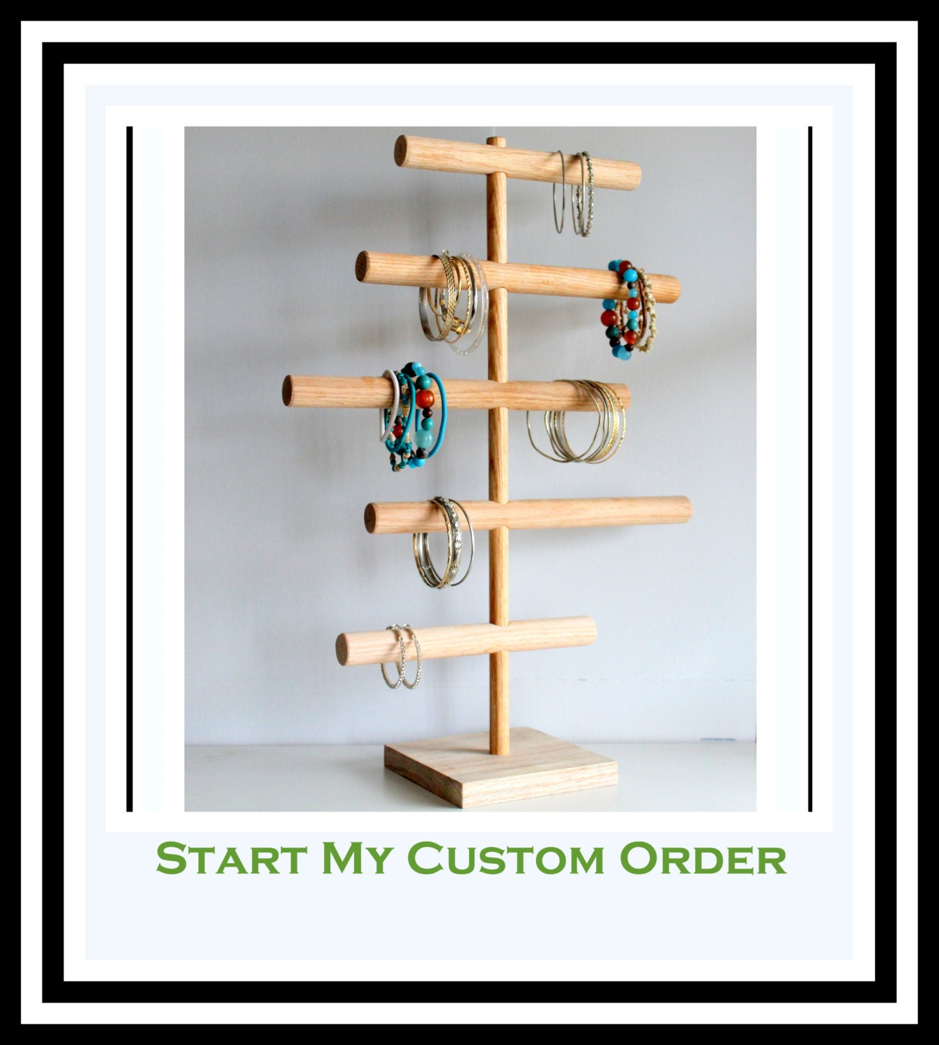 Cynthia Rowley Jewelry Organizer: Large Bracelet Holder Asymmetrical Jewelry Organizer