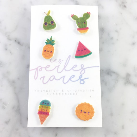 mix and match summer earrings, sun, cactus, pineapple, ice cream, colors earrings,stud earring, stainless stud, handmade, les perles rares