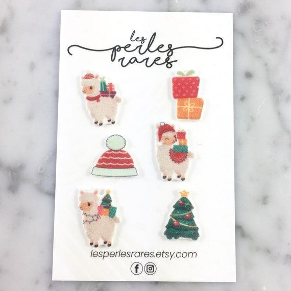 Mix and match, llama Earring kit, christmas, lama earrings, christmas gift, christmas tree, stud, stainless stud, handmade, les perles rares