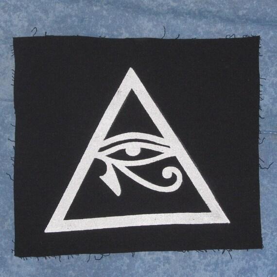 Illuminati Symbol Eye Of Horus In Triangle Patch Large Etsy