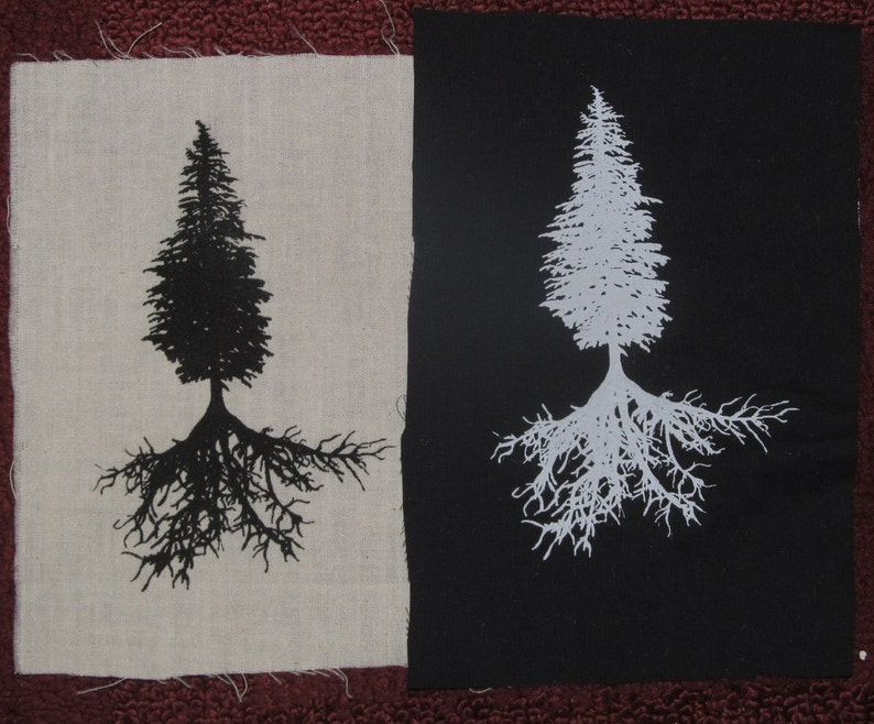 875ff5d99c4 Tree Patch Conifer   Tree Roots choose black white green