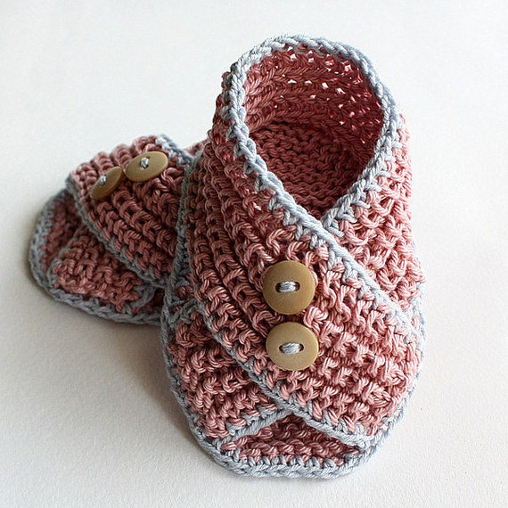 Knitting Pattern Pdf File Baby Sandals Piccolini For Sizes Etsy