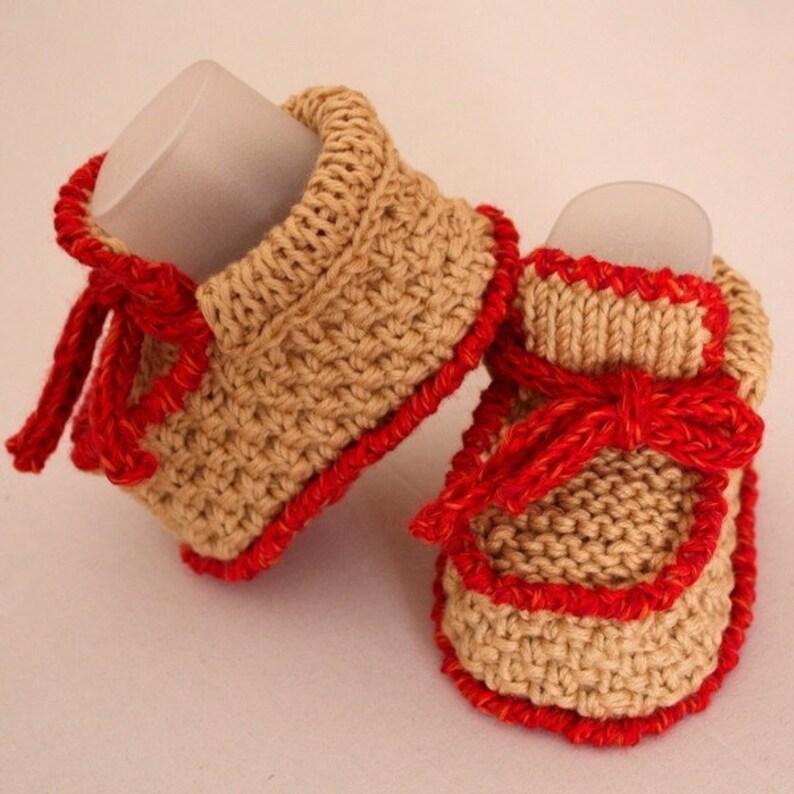 Knitting Pattern PDF file Baby Moccasins with Lace 0-6/6 ...