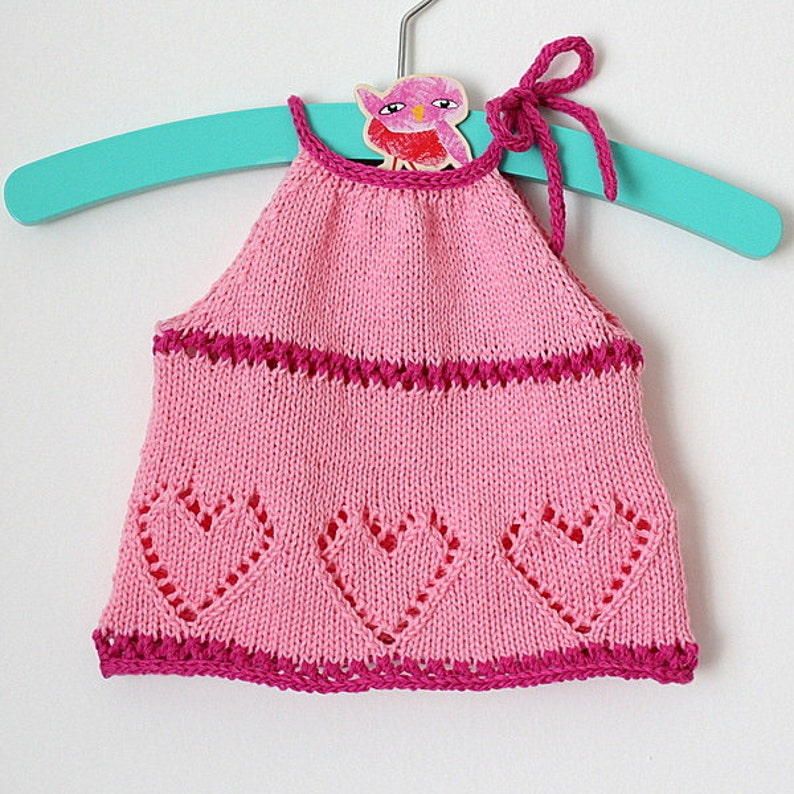 Sweet Hearts Baby Top (sizes 3 months up 4 years)