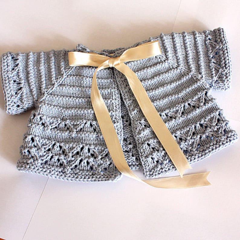 Knitting Pattern pdf file Baby Cardigan/Shrug sizes | Etsy