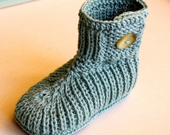 INSTANT DOWNLOAD - Knitting Pattern (Pdf file) Toddler Winter Boots