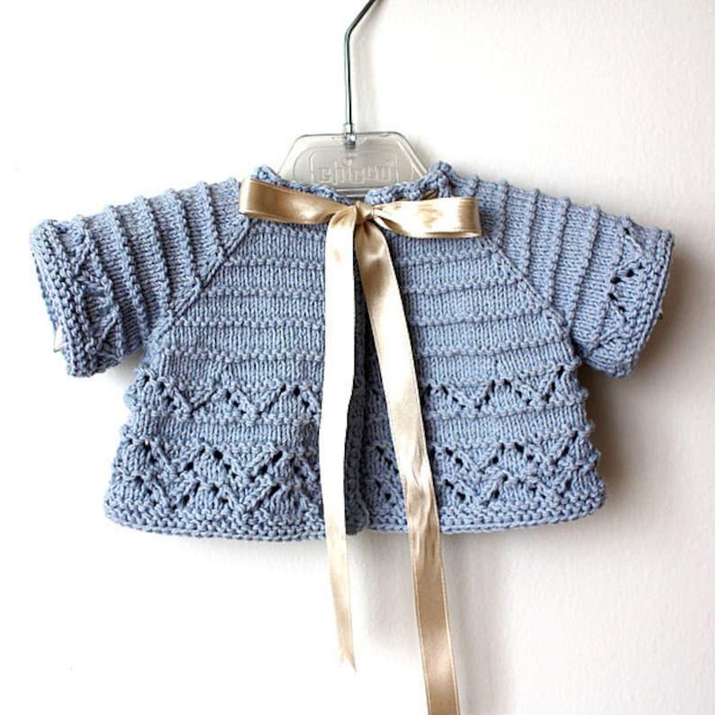 Knitting Pattern (pdf file) Baby Cardigan