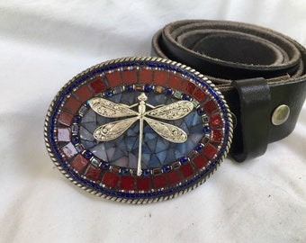 Beaded Buckle, Dragonfly, embellished, leather belts, for women, handmade, Camilla Klein, western outfits, festival style, rodeo, cowgirl