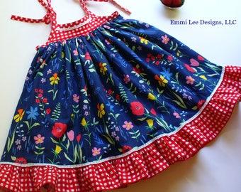 Girls Fourth of July Dress,Girls 4th of July Dress,Little GIrl Dress, Toddler Dress,Red,Blue,White,Sarah Jane,Sizes 2T,3T,4T,5T,6,7,8,9,10