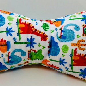 Neck Pillow Minky Fabric Broqn and Pink Circles Print   FREE SHIPPING orders 35 dollars or more