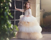 Caramel Dreams A One Of A Kind Special Occasion Flower Girl Gown