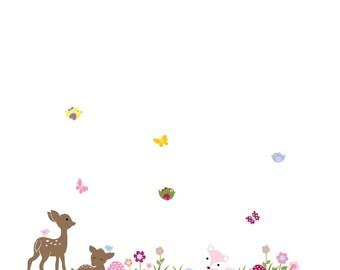 Deer flower decals