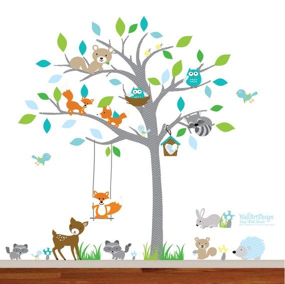 Kinder Wandtattoo, Wandtattoo Kinderzimmer, Wandtattoo Baum, Baby  Wandtattoo, Wand Aufkleber, Baum Decals, Owl Tree Decals